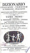 Dizionario italiano-tedesco e tedesco-italiano