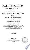 Dizionario odeporico, o sia storico-politico-naturale, della provincia Bergamasca