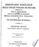 Dizionario portatile della lingue Italiana ed Inglese0