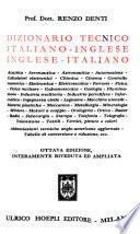 Dizionario tecnico italiano-inglese, inglese-italiano