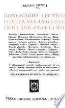 Dizionario tecnico italiano-inglese, inglese-italiano ...