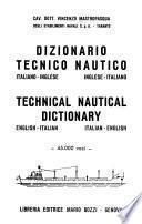 Dizionario tecnico nautico italiano-inglese, inglese-italiano