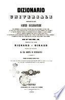 Dizionario universale delle scienze ecclesiastiche che comprende la storia della religione ... opera compilata dai padri Richard e Giraud