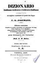 Dizionaro tedesco-italiano e italiano-tedesco ... Ed. nuovissima da G. B. Bolza