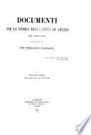 Documenti per la storia della città di Arezzo nel medio evo