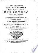 Documenti per la vera istoria di San Romolo Vescovo, Martire e Protettore della Città di Fiesole