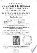 Trattato dell'arte della pittvra, scoltvra, et architettvra, di Gio. Paolo Lomazzo [...] diuiso in sette libri. Ne' qvali si discorre de la proportione, de' moti, de' colori, de' lumi, de la prospettiua, de la prattica de la pittura, et finalmente de le istorie d'essa pittura [...].