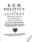 Eco politica di Scipione abbate Coppa da Venafro accademico humorista