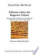 EDIZIONE CRITICA DEL RAPPORTO TABARRI