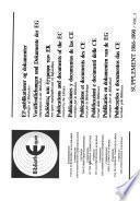 EF-publikationer og dokumenter modtaget af biblioteket