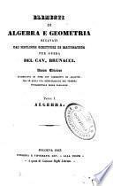 Elementi di algebra e geometria ricavati dai migliori scrittori di matematica