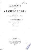 Elementi di Archeologia, ad uso dell'Archiginnasio Romano
