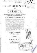Elementi di chimica appoggiati alle piu recenti scoperte chimiche e farmaceutiche di L. Brugnatelli ... Tomo 1. [-3.]