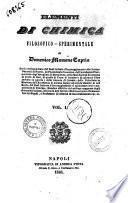 Elementi di chimica filosofico-sperimentale di Domenico Mamone Capria
