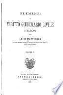 Elementi di diritto giudiziario civile italiano
