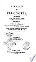 Elementi di filosofia del barone Pasquale Galluppi