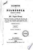 Elementi di filosofia ordinati e composti da Angelo Ciampi