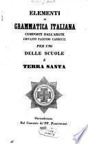 Elementi di grammatica italiana