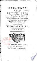 Elementi di matematica... Elementi dell'artiglieria... dal professore Vito Caravelli