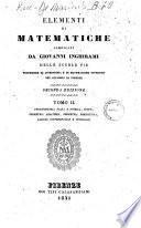 Elementi di matematiche compilati da Giovanni Inghirami