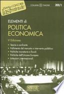 Elementi di politica economica