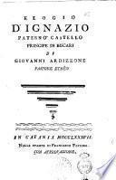 Elogio d'Ignazio Paterno' Castello principe di Biscari di Giovanni Ardizzone pastore etneo