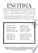 Enotria rivista dell'industria e del commercio del vino in Italia