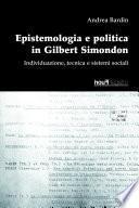 Epistemologia e politica in Gilbert Simondon