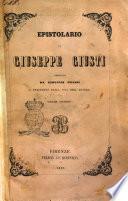 Epistolario di Giuseppe Giusti