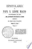 Epistolario di papa s. Leone Magno