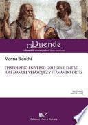 Epistolario en verso (2013) entre José Manuel Velázquez y Fernando Ortiz