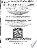 Epistole de S. Girolamo dottore della chiesa
