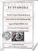 Epistole et evangeli che si leggono tvtto l'anno alle Messe