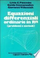 Equazioni differenziali ordinarie in R[superscript n]