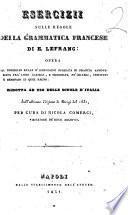 Esercizii sulle regole della grammatica francese di E. Lefranc