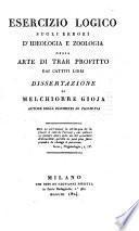 Esercizio logico sugli errori d'ideologia e zoologia ossia arte di trar profitto dai cattivi libri. Dissertazione