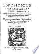 Espositione dell' 11. et 12. capitolo del 4. libro d'Esdra sopra gli accidenti ... della revolutione dell' ... imperio dell'aquila