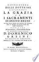 Esposizione delle dottrine riguardanti la grazia ed i sacramenti