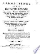 Esposizione delle principali ragioni che assistono i possessori del fabricato noto col nome di Forno alla Palombella, etc