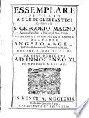 Essemplare di virtu a gli ecclesiastici considerato in S. Gregorio Magno