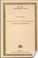 Filologia e storiografia. Da Tasso al Novecento