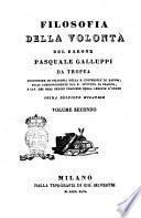Filosofia della volontà Pasquale Galluppi