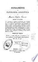 Fondamenti di patologia analitica di Maurizio Bufalini Cesenate medico in patria ... tomo 1. [-2.]