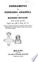 Fondamenti di patologia analitica di Maurizio Bufalini