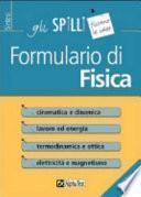 Formulario di fisica