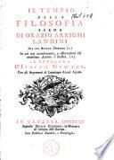 Fra gli Agiati. II tempio della filosofia poema, in cui non accrescimenti. e osservazioni del medisimo autore s'illustrall sepolcro d'Isacco Newton