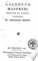 Galeotto Manfredi principe di Faenza tragedia di Vincenzo Monti