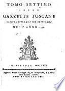 Gazzetta toscana ...