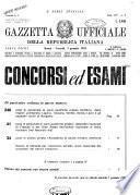 Gazzetta ufficiale della Repubblica italiana. Parte prima, 4. serie speciale, Concorsi ed esami