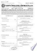 Gazzetta ufficiale della Repubblica italiana. Parte seconda, foglio delle inserzioni